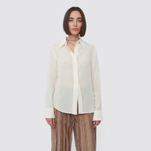 Our Legacy Women's 70s Line Shirt - White Raw Viscose Wool