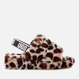 UGG Women's Fluff Yeah Leopard Slippers - Amphora