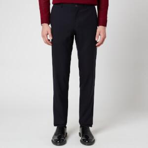 Canali Men's 5 Pocket Soft Construction Slim Fit Trousers - Navy
