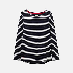 Joules Women's Harbour Long Sleeve Top - Navy Cream Stripe