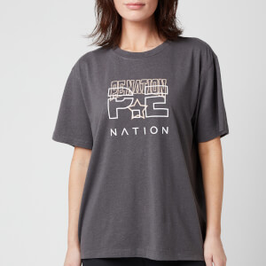 P.E Nation Women's Bounce Pass T-Shirt - Charcoal