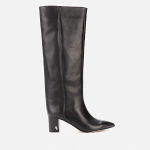 Kurt Geiger London Women's Burlington Leather Heeled Knee High Boots - Black