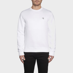 CK Jeans Men's Essential Crewneck Sweatshirt - Bright White