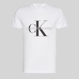 CK Jeans Men's Iconic Monogram T-Shirt - Bright White