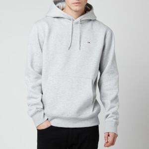 Tommy Jeans Men's Regular Fleece Hoodie - Light Grey Heather