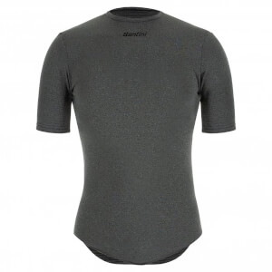 Santini Thermal Insulation Short Sleeve Baselayer - Grey