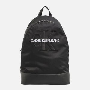 CK Jeans Men's Monogram Nylon Packable Backpack - Black