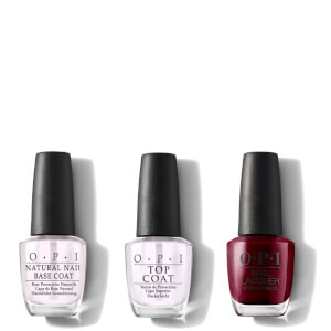 OPI Nail Lacquer Malaga Wine At-Home Manicure Bundle