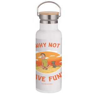 Rick & Morty Why Not Have Fun? Portable Insulated Water Bottle - White