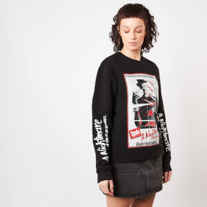 A Nightmare On Elm Street Don't Fall Asleep Women's Sweatshirt - Black