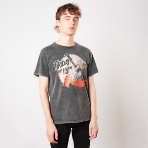 T-Shirt Venerdì 13 Final Chapter Acid Wash - Nero - Unisex