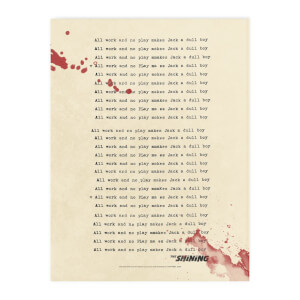 The Shining All Work And No Play Chopping Board