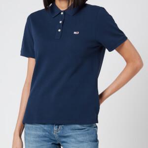Tommy Jeans Women's Tommy Classics Polo-Shirt - Black Iris
