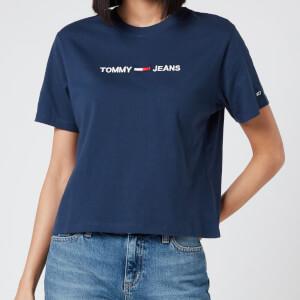 Tommy Jeans Women's Modern Linear Logo T-Shirt - Twilight Navy