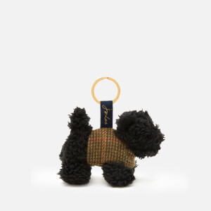 Joules Women's Tweedle Keyring - Black Scottie Dog