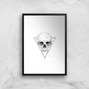 Skull In A Triangle Giclee Art Print