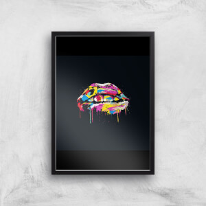 Colour Lips At Night Giclee Art Print