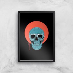 Blue Skull Giclee Art Print