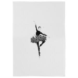 Floral Dance Cotton Tea Towel - White