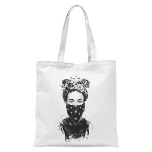 Rebel Girl Tote Bag - White