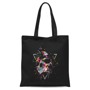 Shattered Skull Tote Bag - Black