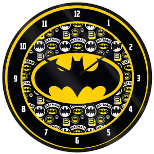 Batman Logo Clock 10 Inch