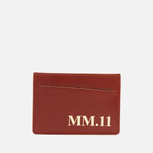 Maison Margiela Men's 3 Card Case - Leather Brown/Sheepskin