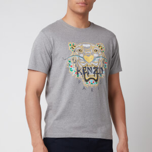 KENZO Men's Dragon Tiger Icon T-Shirt - Stone Grey