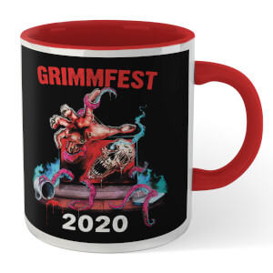Grimmfest 2020 Tour Mug - White/Red