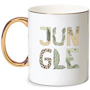 Jungle Bone China Gold Handle Mug