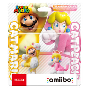 Cat Mario and Cat Peach Double Pack amiibo (Super Mario Collection)