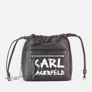 Karl Lagerfeld Women's K/Soho Graffiti Small Cross Body Bag - Black/White