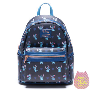 Loungefly Disney Stitch Valentine Collection Aop Faux Leather Mini Backpack - VeryNeko Exclusive