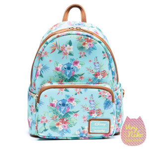 Loungefly Disney Stitch Mint Floral Mini Backpack - VeryNeko Exclusive