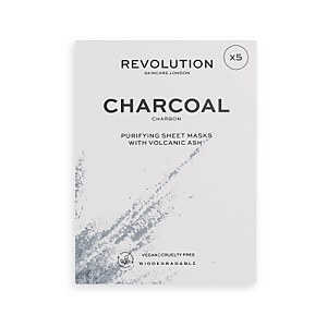 Revolution Skincare Biodegradable Purifying Charcoal Sheet Mask Set
