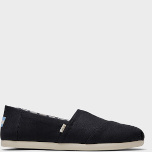 TOMS Men's Alpargata Slip-On Pumps - Black