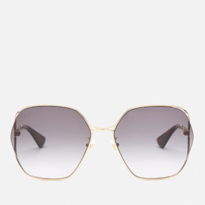 Gucci Women's Metal Frame Sunglasses - Gold/Grey
