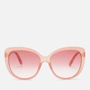 Gucci Women's Cat Eye Sunglasses - Pink/Red