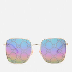 Gucci Women's Monogram Sunglasses - Gold/Multi