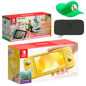Nintendo Switch Lite (Yellow) Mario Kart Live: Home Circuit - Luigi Set Pack