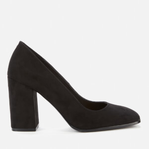 Dune Women's Alila Leather Chunky Court Heels - Black