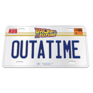 "Back to the Future ""OUTATIME"" Licensed Plate"