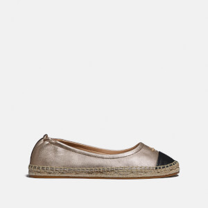 Coach Women's Camryn Metallic Leather Espadrilles - Black/Champagne