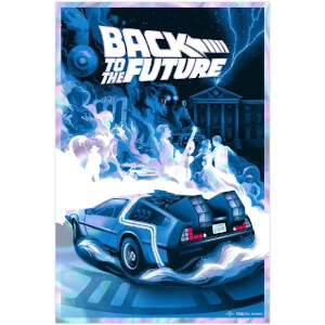Back to the Future Screenprint by Bella Grace Holo Variant