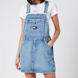 Tommy Jeans Women's Dungaree Dress - Light Blue