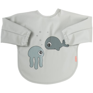 Done by Deer Sleeved Bib - Sea Friends - 6-18m - Grey