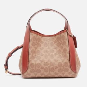 Coach New York Women's Signature Hadley Hobo Bag 21 - Tan Rust
