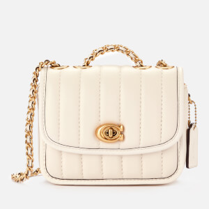 Coach New York Women's Quilted Madison Shoulder Bag 16 - Chalk