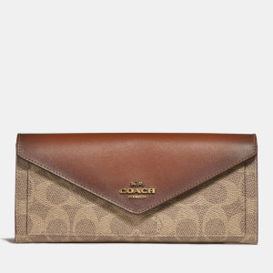 Coach Women's Colorblock Signature Soft Wallet - Tan Rust