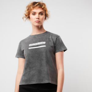 Nintendo Super Mario Women's Cropped T-Shirt - Black Acid Wash